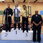 Adult forms and weapons champions Escuela International Kung Fu, Richard Lee, Calvin Chin
