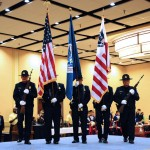 Honor guard shows its colors